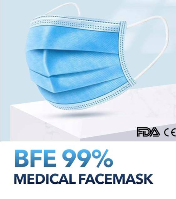 Disposable PPE (Personal Protective Equipment) masks distributed by Keith Bennitz.